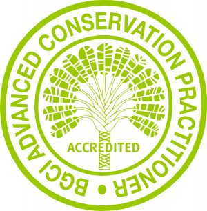 BGCI advanced conservation practitioner seal