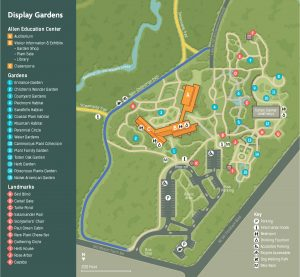 Map of display gardens