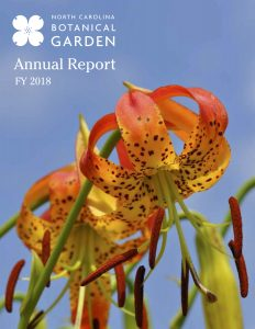 cover of fiscal year 2018 annual report
