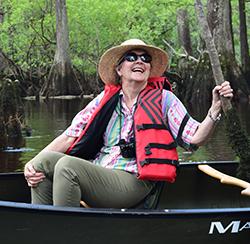 Julie Moore paddling