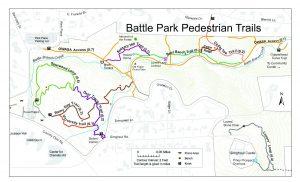 Battle Park trail map