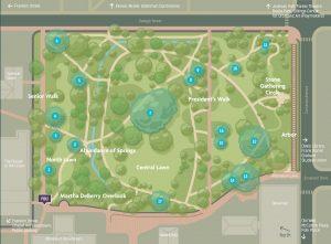 Coker Arboretum map