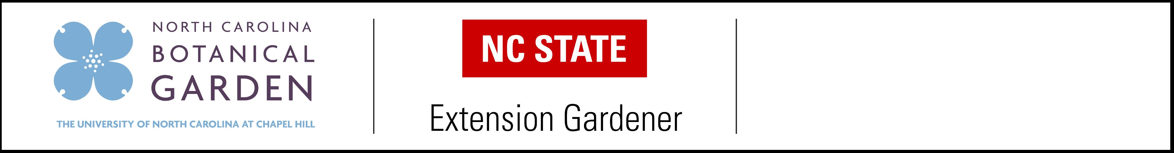 ncbg logo and nc state extension gardener logo