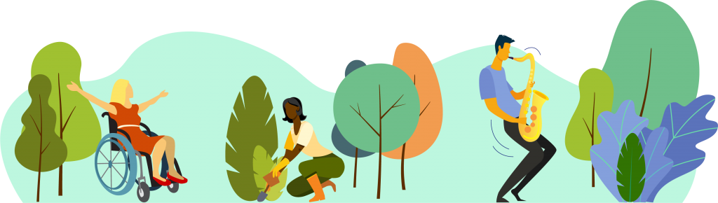 illustration of therapeutic horticulture