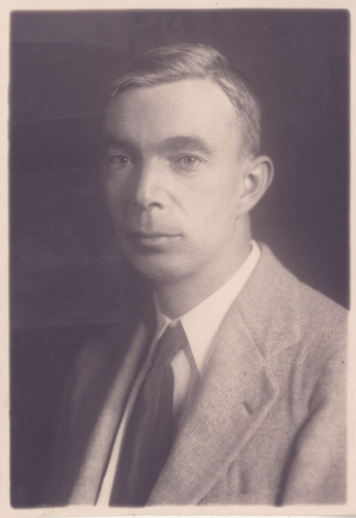 A black and white portrait of Goodwin LeBaron Foster.