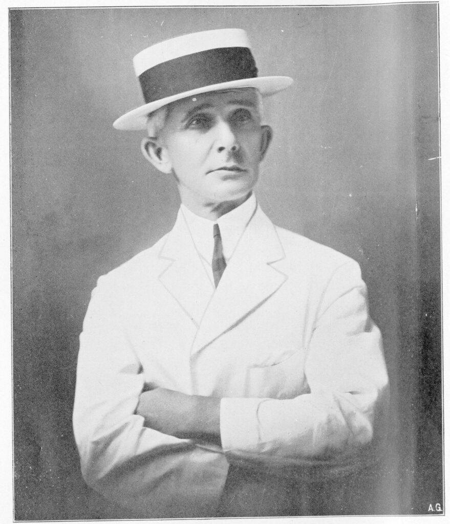 A black and white portrait of Charles Fuller Baker.