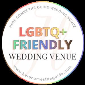 LGBTQ+ friendly wedding venue badge